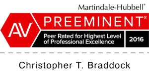 AV Preeminent Professional Excellence: Christopher T. Braddock